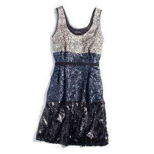 Madewell Broadway & Brooke sequin colorblock dress